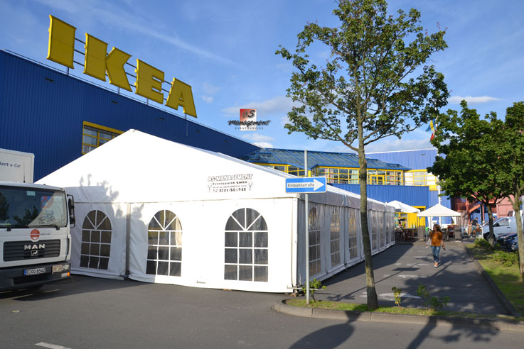 festzelte f r ikea in essen as management eventcatering. Black Bedroom Furniture Sets. Home Design Ideas